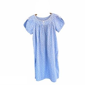 Vintage Floral Summer Cotton Nightgown